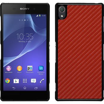 Hardcase for Sony Xperia Z3 carbon optics red