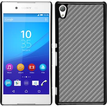 Hardcase for Sony Xperia Z3+ carbon optics silver