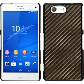 Hardcase for Sony Xperia Z3 Compact carbon optics bronze
