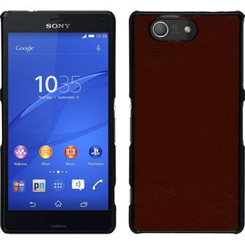 Hardcase for Sony Xperia Z3 Compact leather optics brown
