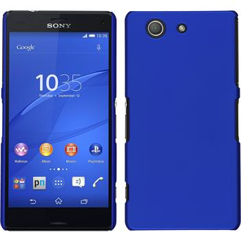 Hardcase for Sony Xperia Z3 Compact rubberized blue