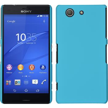 Hardcase for Sony Xperia Z3 Compact rubberized light blue