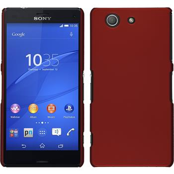 Hardcase for Sony Xperia Z3 Compact rubberized red