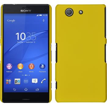 Hardcase for Sony Xperia Z3 Compact rubberized yellow