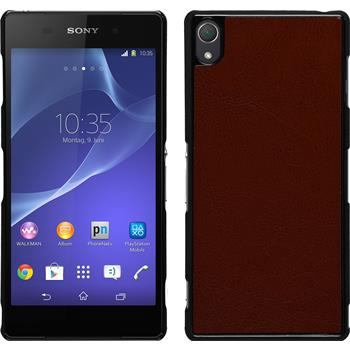 Hardcase for Sony Xperia Z3 leather optics brown