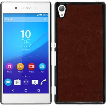 Hardcase for Sony Xperia Z3+ leather optics brown