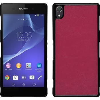 Hardcase for Sony Xperia Z3 leather optics hot pink