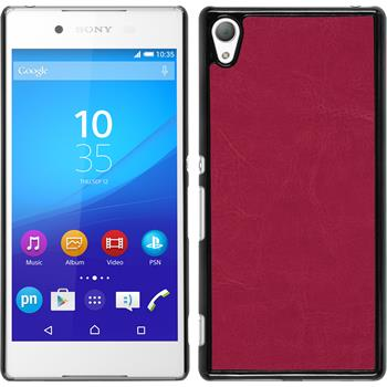 Hardcase for Sony Xperia Z3+ leather optics hot pink