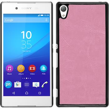 Hardcase for Sony Xperia Z3+ leather optics pink