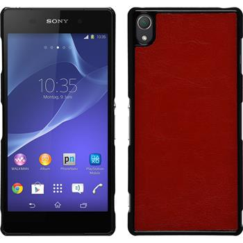 Hardcase for Sony Xperia Z3 leather optics red