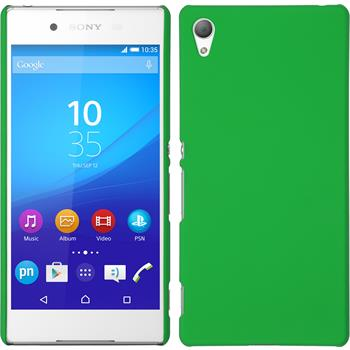 Hardcase for Sony Xperia Z3+ rubberized green