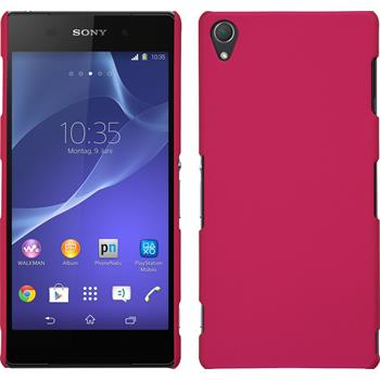 Hardcase for Sony Xperia Z3 rubberized hot pink