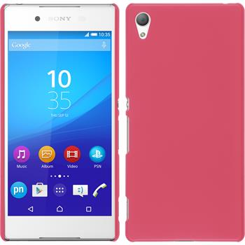 Hardcase for Sony Xperia Z3+ rubberized hot pink