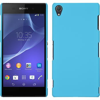 Hardcase for Sony Xperia Z3 rubberized light blue