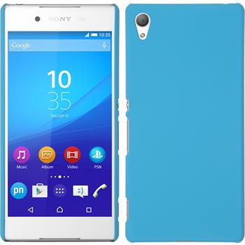 Hardcase for Sony Xperia Z3+ rubberized light blue
