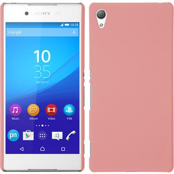 Hardcase for Sony Xperia Z3+ rubberized pink