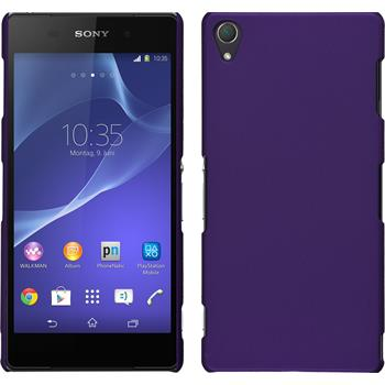 Hardcase for Sony Xperia Z3 rubberized purple