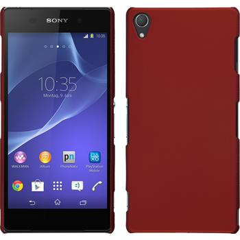 Hardcase for Sony Xperia Z3 rubberized red