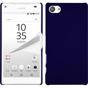 Hardcase for Sony Xperia Z5 compact rubberized blue
