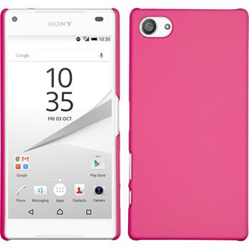 Hardcase for Sony Xperia Z5 compact rubberized hot pink