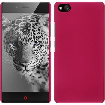 Hardcase for ZTE Nubia Z9 Max rubberized hot pink