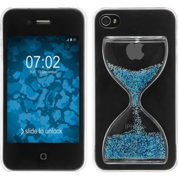 Hardcase iPhone 4S Sanduhr blau-weiß