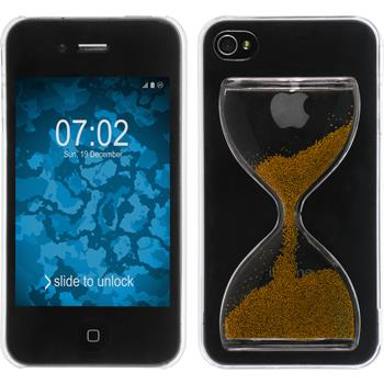 Hardcase iPhone 4S Sanduhr bronze