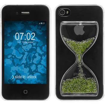 Hardcase iPhone 4S Sanduhr grün-weiß