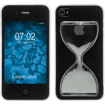Hardcase für Apple iPhone 4S Sanduhr weiß
