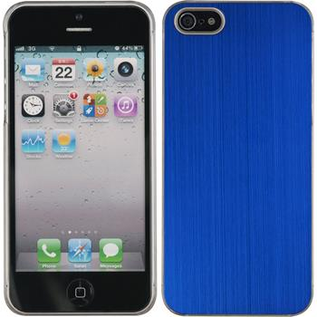 Hardcase iPhone 5 / 5s / SE Metallic blau
