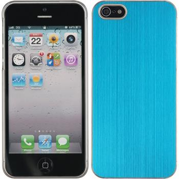 Hardcase iPhone 5 / 5s / SE Metallic hellblau