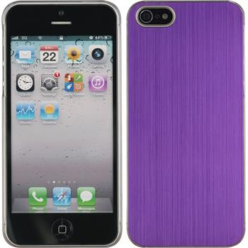 Hardcase für Apple iPhone 5 / 5s / SE Metallic lila