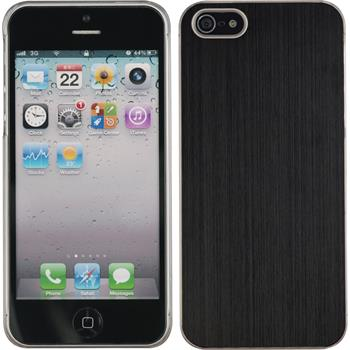 Hardcase iPhone 5 / 5s / SE Metallic schwarz