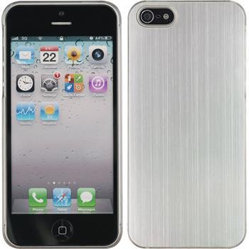 Hardcase iPhone 5 / 5s / SE Metallic silber