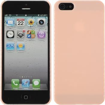 Hardcase iPhone 5 / 5s / SE Candy rosa + 2 Schutzfolien