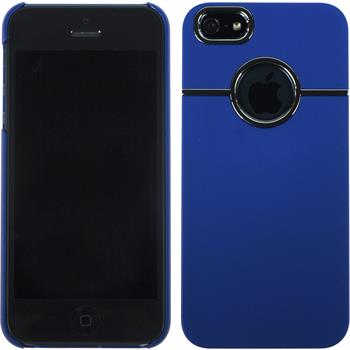 Hardcase for Apple iPhone 5 / 5s rubberized blue