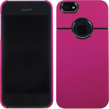 Hardcase für Apple iPhone 5 / 5s / SE gummiert pink