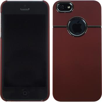 Hardcase for Apple iPhone 5 / 5s rubberized red