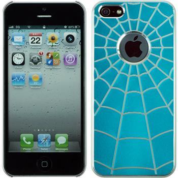 Hardcase iPhone 5 / 5s / SE Spiderweb blau