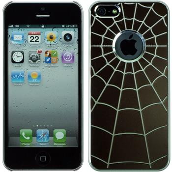 Hardcase iPhone 5 / 5s / SE Spiderweb braun