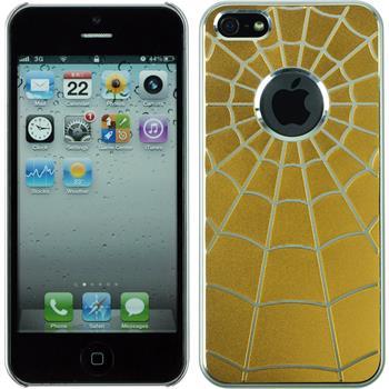 Hardcase für Apple iPhone 5 / 5s / SE Spiderweb gelb