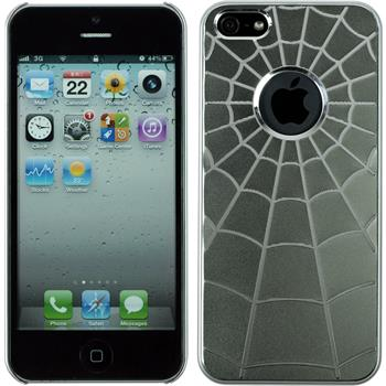 Hardcase iPhone 5 / 5s / SE Spiderweb grau
