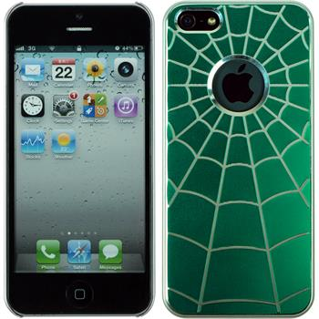 Hardcase iPhone 5 / 5s / SE Spiderweb grün