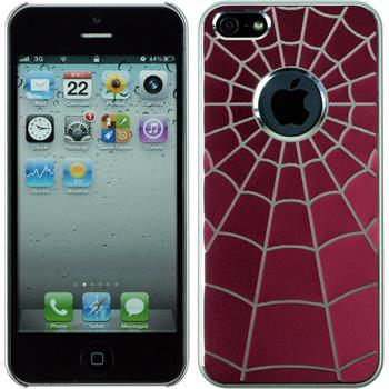 Hardcase für Apple iPhone 5 / 5s / SE Spiderweb pink