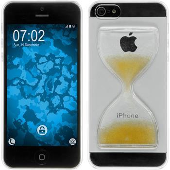 Hardcase iPhone 5 / 5s / SE Sanduhr gelb
