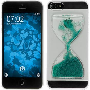 Hardcase für Apple iPhone 5 / 5s / SE Sanduhr grün