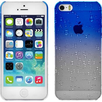 Hardcase iPhone 5 / 5s / SE Waterdrops blau