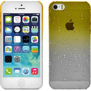 Hardcase iPhone 5 / 5s / SE Waterdrops gelb