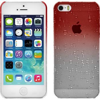 Hardcase für Apple iPhone 5 / 5s / SE Waterdrops rot