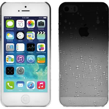 Hardcase für Apple iPhone 5 / 5s / SE Waterdrops schwarz
